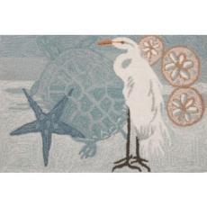 Coastal Egret Accent Rug