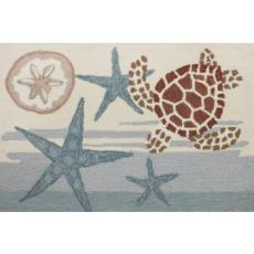 Coastal Turtle Accent Rug