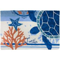 Turtle Medallion Accent Rug