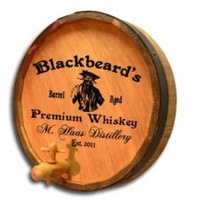 Blackbeard's Barrel Quarter Barrel Sign Personalized