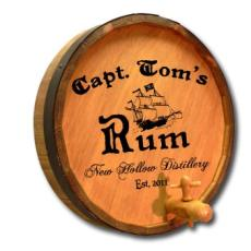 Capt. Tom'S Rum Quarter Barrel Sign Personalized