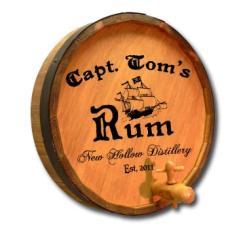 Capt. Tom's Rum Quarter Barrel Sign Personalized