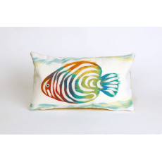 Rainbow Fish Pearl Oblong Pillow