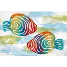 Rainbow Fish Indoor Outdoor Rug