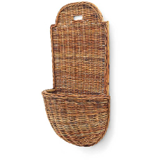 French Provence Rattan Wall Basket