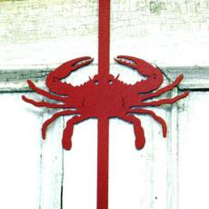 Red Crab Wreath Holder
