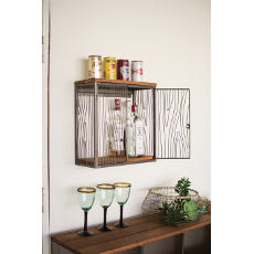 Recycled Wood-Iron Hanging Cabinet
