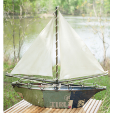 Recycled Iron Sail Boat