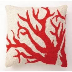 Big Red Coral Hook Pillow