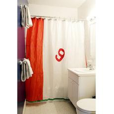 Spinnaker Shower Curtain w/Red Panel