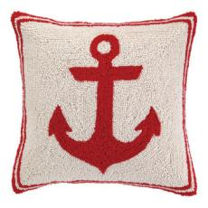 Red Anchor Hook Pillow