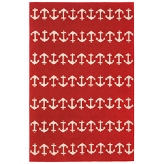 Anchor Red Indoor Outdoor Rug