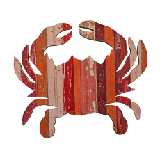 Red Crab Wooden Plaque