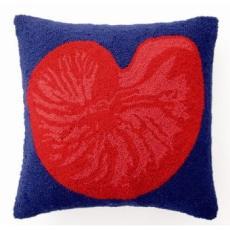 Red Nautilus Hook Pillow