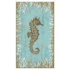 Seahorse Wall Art wooden beach signs & coastal wall art