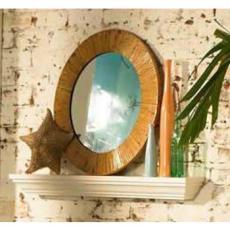 Coastal Rattan Round Mirror