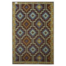 Lhasa - Royal Blue & Chocolate Brown Indoor- Outdoor Rug