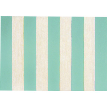 Rugby Stripe Aqua Indoor Outdoor Rug