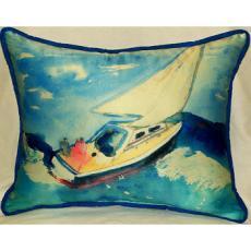 Sailboat Indoor Outdoor Pillow