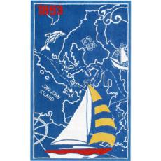 Sailboat And Map-1853  Rug