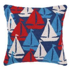 Sailboats Away Hook Pillow