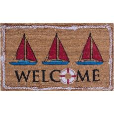 Nautical Welcome Coco Doormat