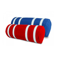 Sailcloth Stripped Bolster Pillow with Insert, Personalized