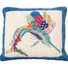 Patchwork Sailfish Pillow