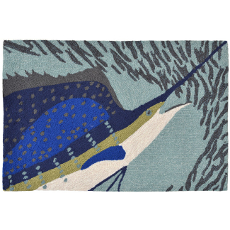 Sailfish Ocean Indoor Outdoor Rug