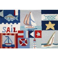 Sailing  Day Accent Rug
