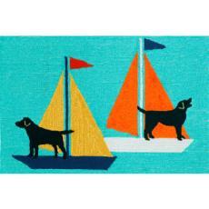 Sailing Dogs Indoor Outdoor Rug