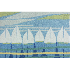Sailboat Regatta Accent Rug