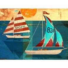 Sailing Wood Wall Art