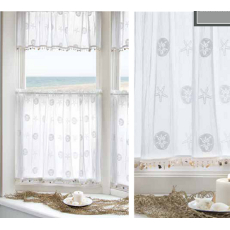 Sand Dollar Window Treatment Door Panels