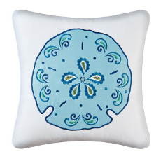 Meridian Sand Dollar Embroidered Pillow
