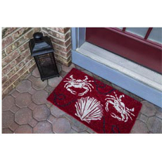 Sand and Crabs Hand Woven Coconut Fiber Doormat