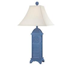 Sand Dollar Shutter Lamp-Blue