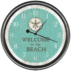 Personalized Sand Dollar Welcome Clock