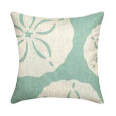 Sand Dollar Aqua Linen Pillow