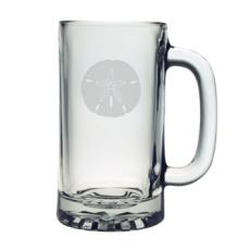 Sand Dollar Etched Sports Beer Mug Set