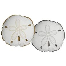 Sand-Dollar Shaped Indoor/Outdoor Pillow