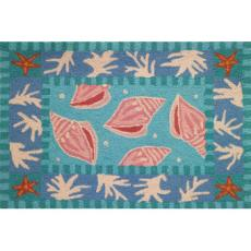 Sanibel Shells and Coral Accent Rug
