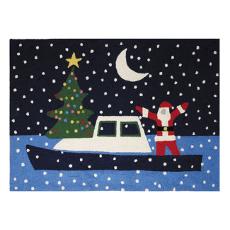 Santa Boat Hook Rug