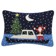 Santa's Boat Hook Pillow