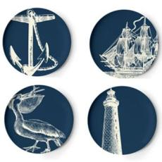 Scrimshaw  Melamine Dinner Plates (set of 4)