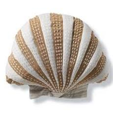 Scallop Shaped Indoor/Outdoor Pillow