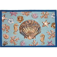 Scallop Shell Hook Rug