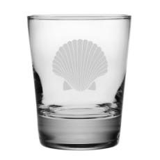 Scallop Shell Etched DOF Glass Set