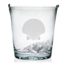Scallop Shell Etched Ice Bucket