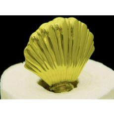 Scallop Shell Brass Paper Towel Holder